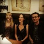 Thomas Thiemeyer, Jennifer Benkau und ich am Ende des Abends